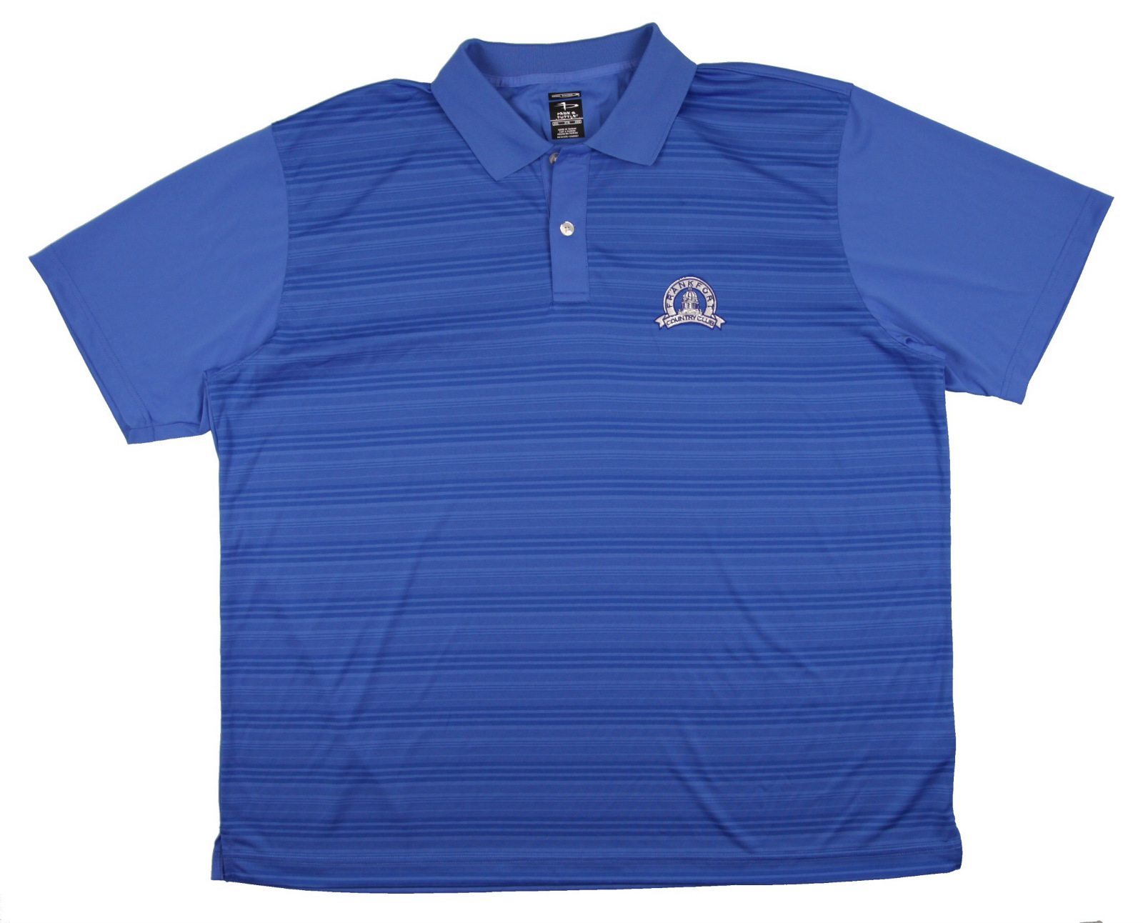 New Men 39 S Page Tuttle Short Sleeve Blue W Logo Golf Polo