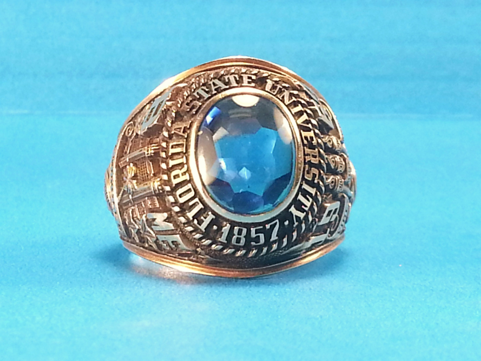 class ring Jewelryweb sterling silver class ring charm measures 11mm in diameter - 3mm blue crystal sold by jewelrywebcom college class rings & marketplace (500+) only.