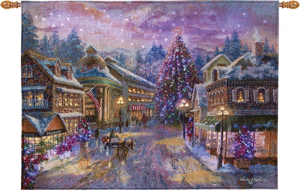 Christmas Tapestry Fiber Optic