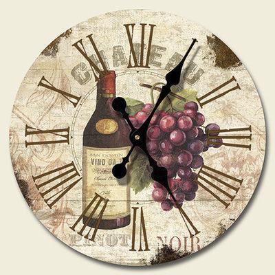 Wine Themed Kitchen Wall Clock