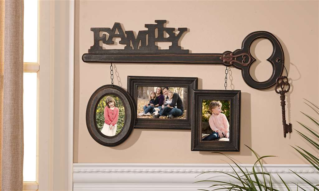 Wall Decor Keys : New family skeleton key trio hanging wall art plaque photo