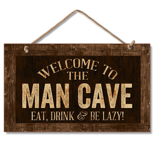 Man Cave Decorative Signs : New wd sign welcome man cave wall art rustic plaque