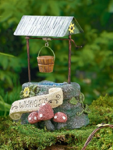 New Whimsical Fairy Wishing Water Well Mini Garden Decor
