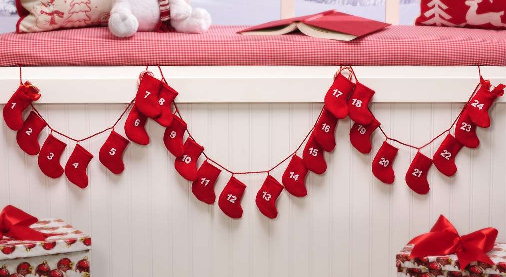 New 86 Holiday Decor Christmas Countdown Hanging Stocking