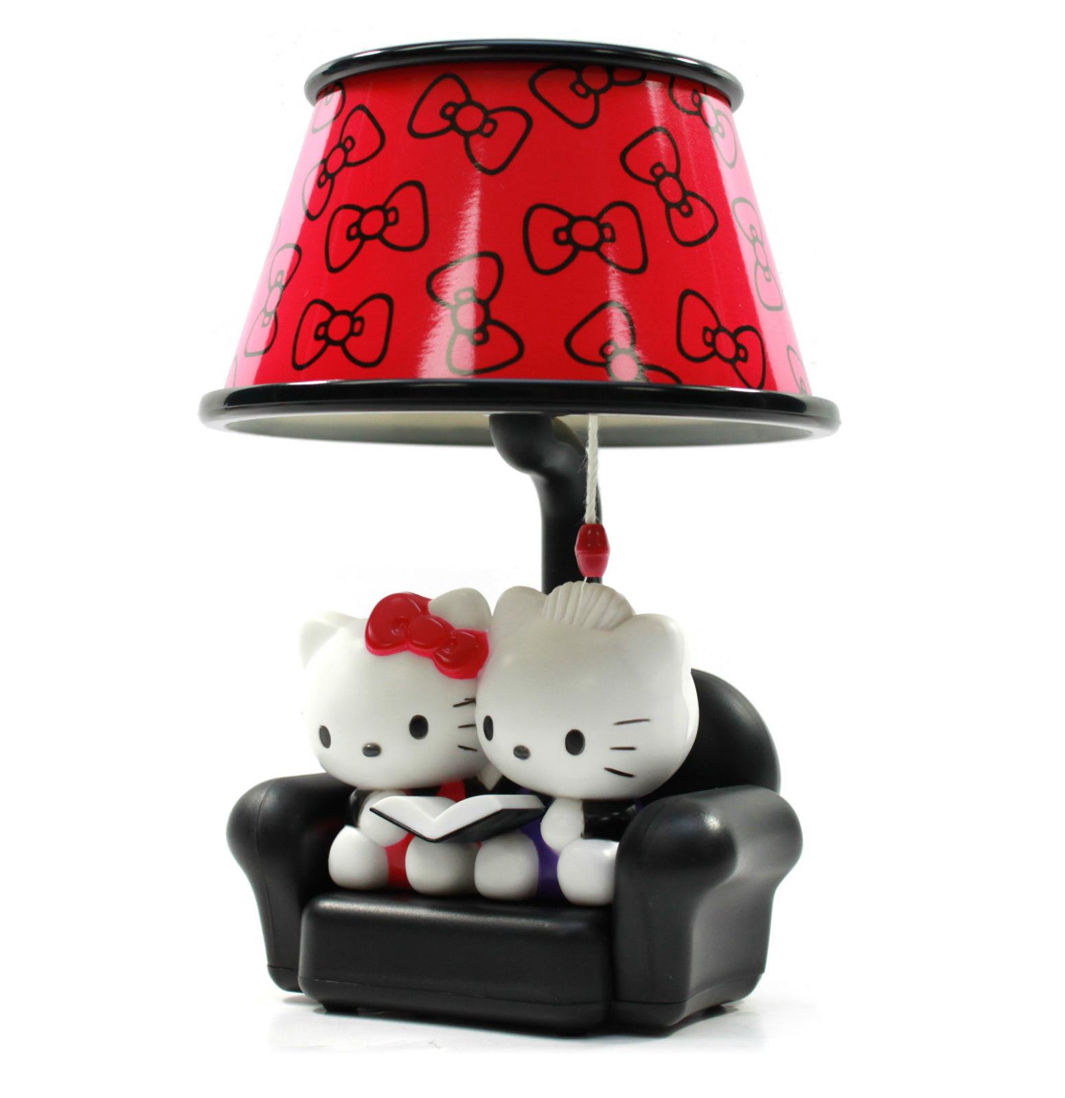 new hello kitty red ribbon pattern sofa shape toy lamp 7 eikoh japan import ebay. Black Bedroom Furniture Sets. Home Design Ideas