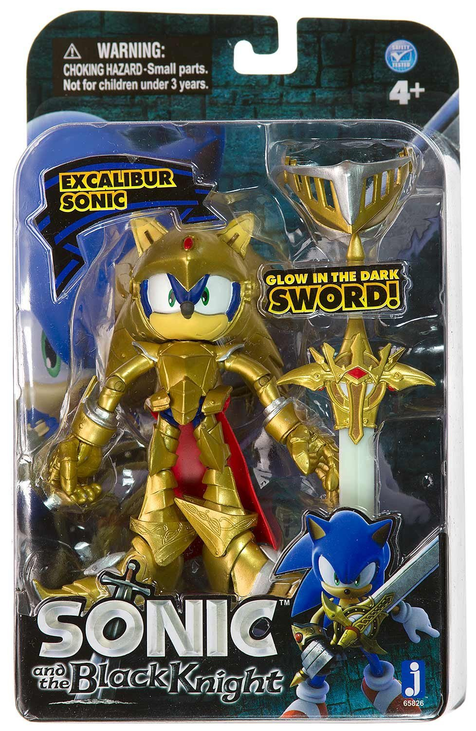brand new excalibur sonic figure sonic and the black