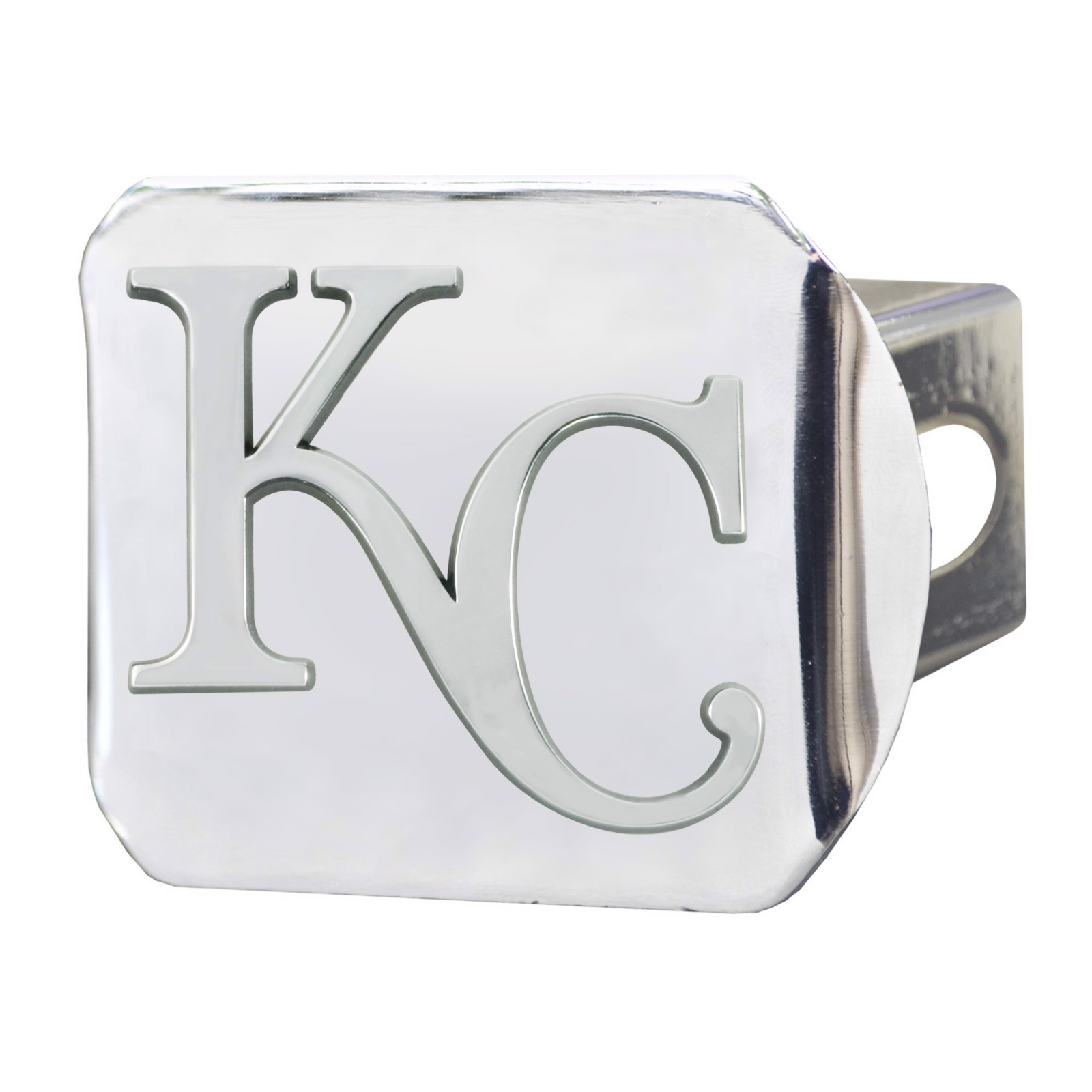 Rico Industries Kansas City Royals Premium Heavy Duty Solid Metal Color Chrome Hitch Cover Bumper Trailer Baseball Inc