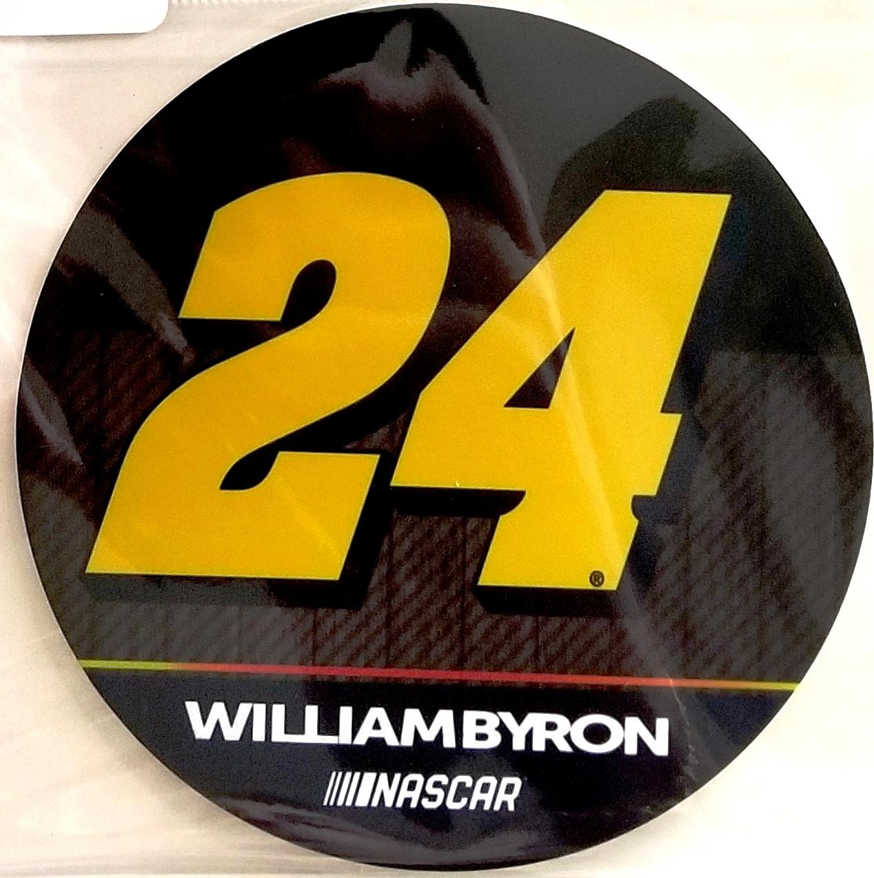 William byron 24 decal rr 4 round vinyl auto home heavy duty nascar racing
