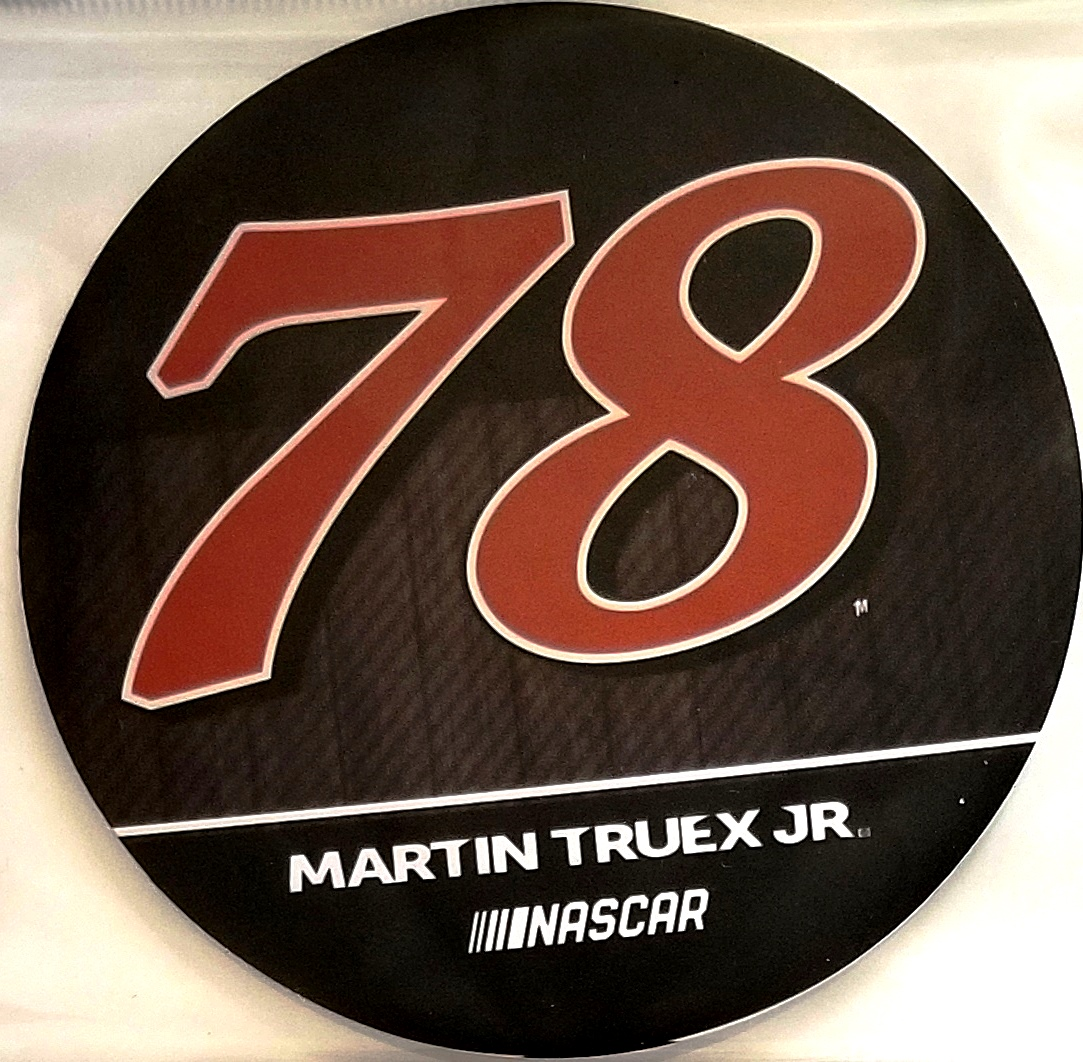 Martin truex jr 78 decal rr 4 round vinyl auto home heavy duty nascar racing