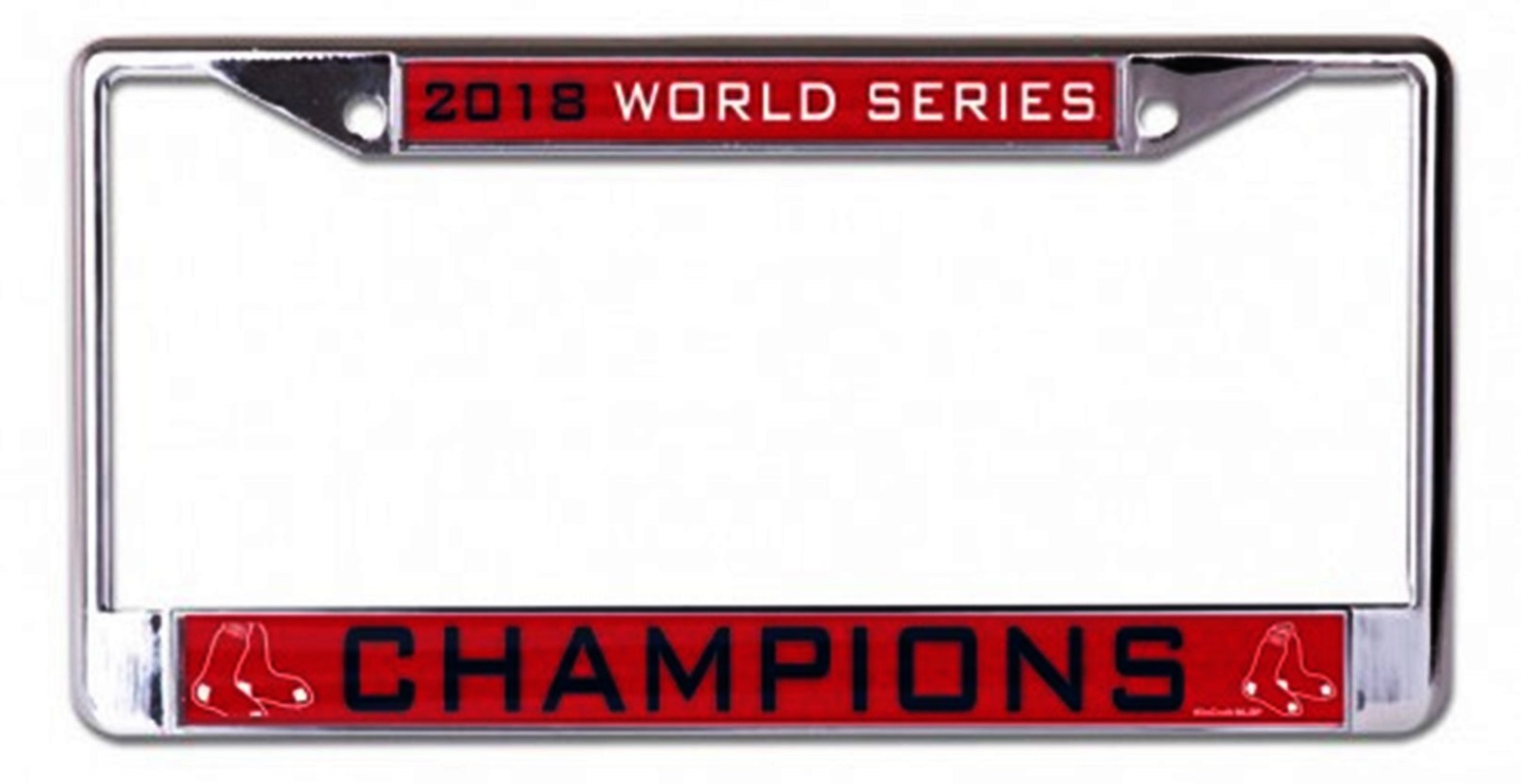 Boston Red Sox Laser Chrome License Plate Frame