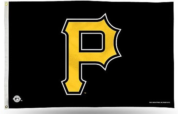 Pittsburgh Pirates P Logo Rico 3x5 Flag Wgrommets Outdoor Banner