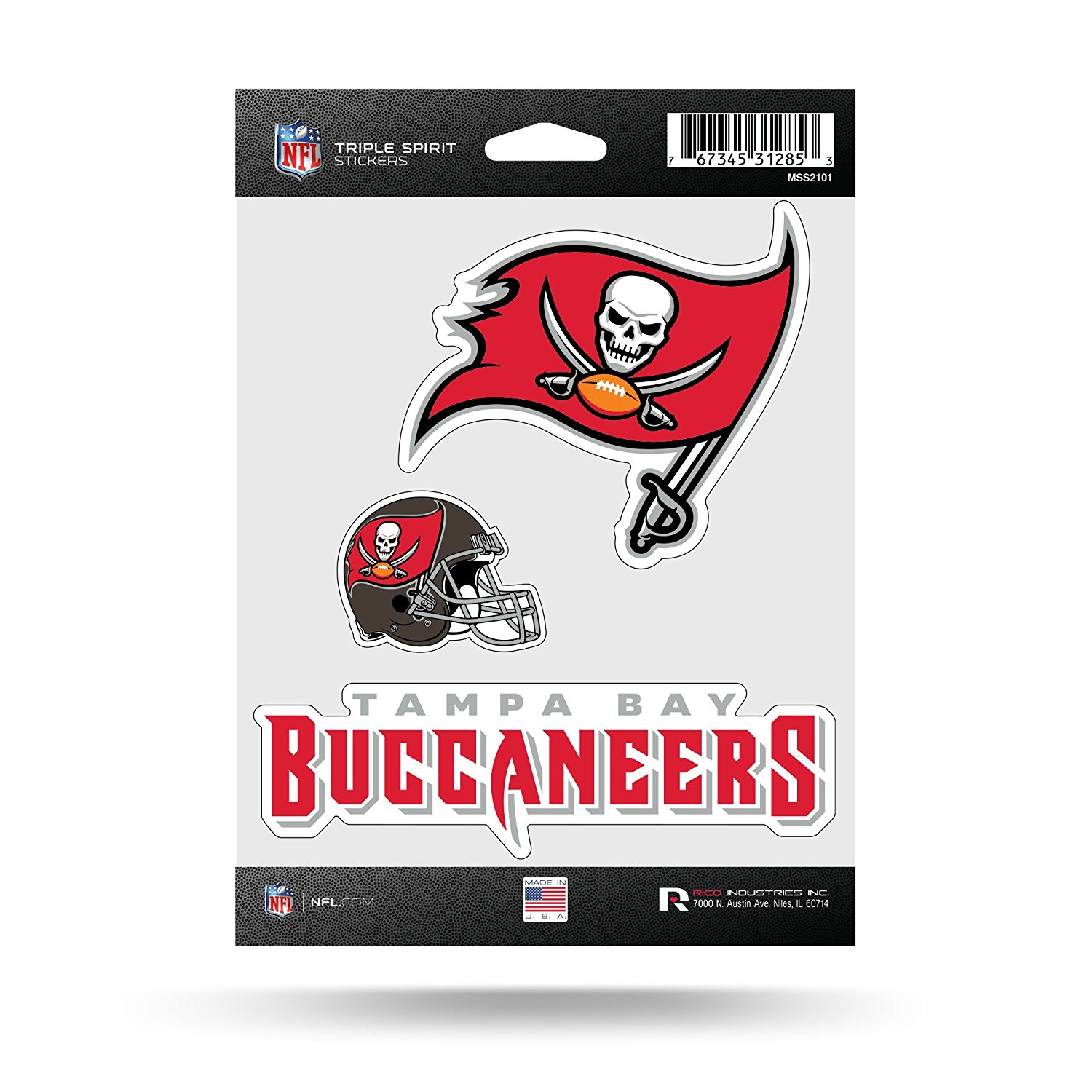 0fd8385a4 Tampa Bay Buccaneers Bucs Triple Sticker Multi Decal Spirit Sheet Football