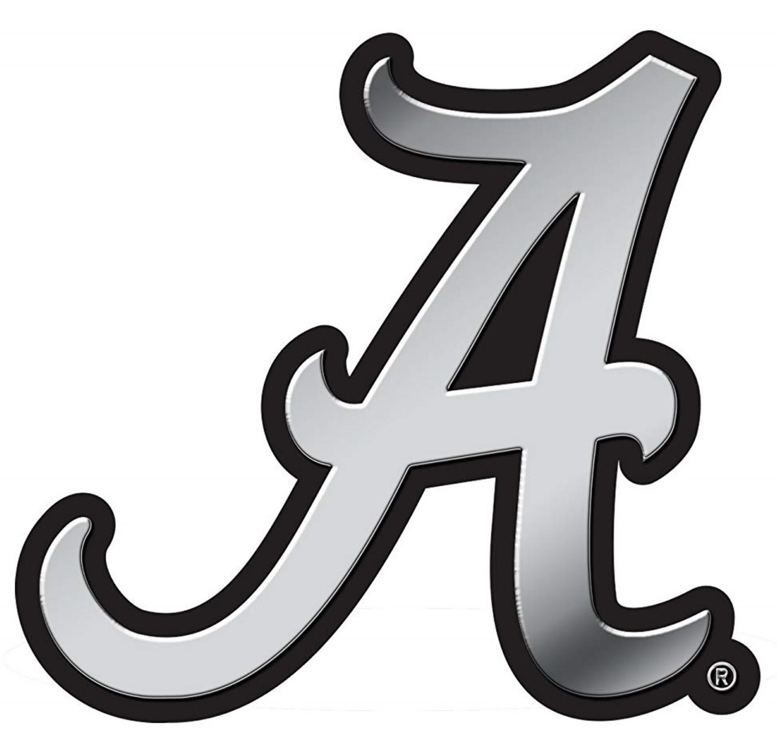 A with Austrian Crystals Chrome Emblem University of Alabama