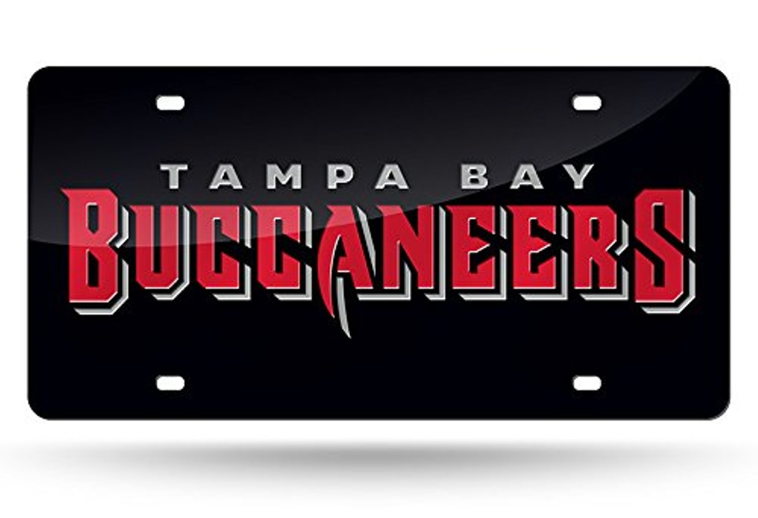 NFL Tampa Bay Buccaneers Laser Inlaid Metal License Plate Tag