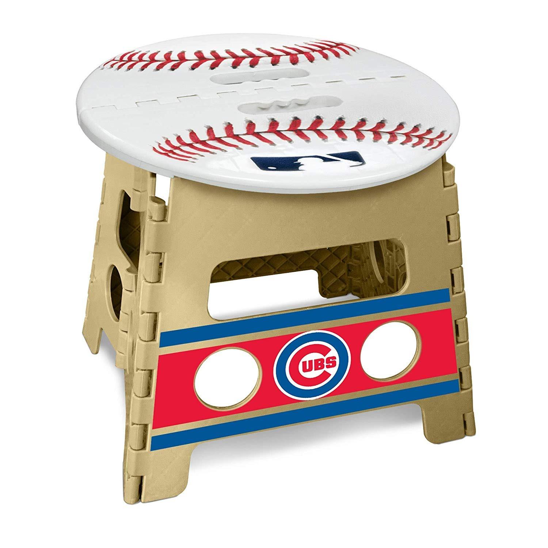 Terrific Details About Chicago Cubs Premium Team Logo Folding Step Stool Baseball Machost Co Dining Chair Design Ideas Machostcouk