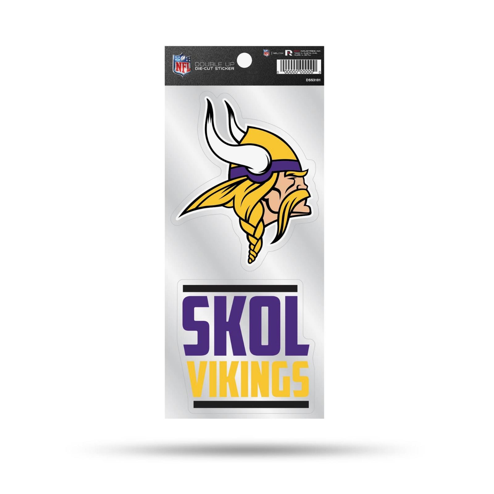 Details About Minnesota Vikings Double Up Decal Skol Slogan Sticker Auto Home Emblem Football
