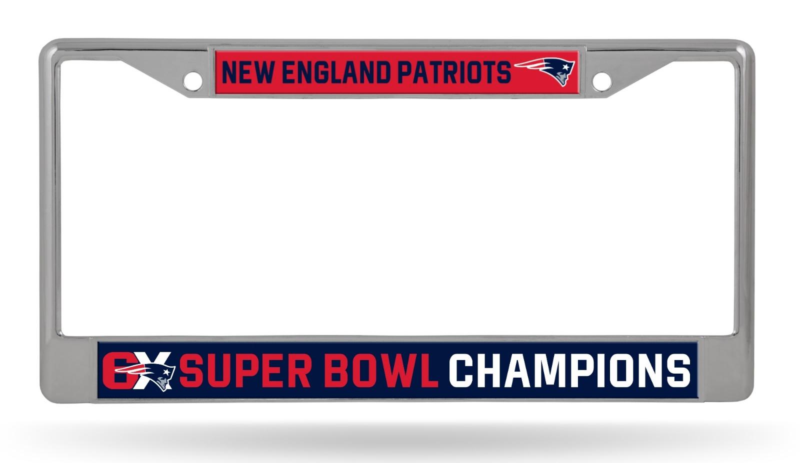 New England Patriots 6X Super Bowl Champions Chrome Frame Li