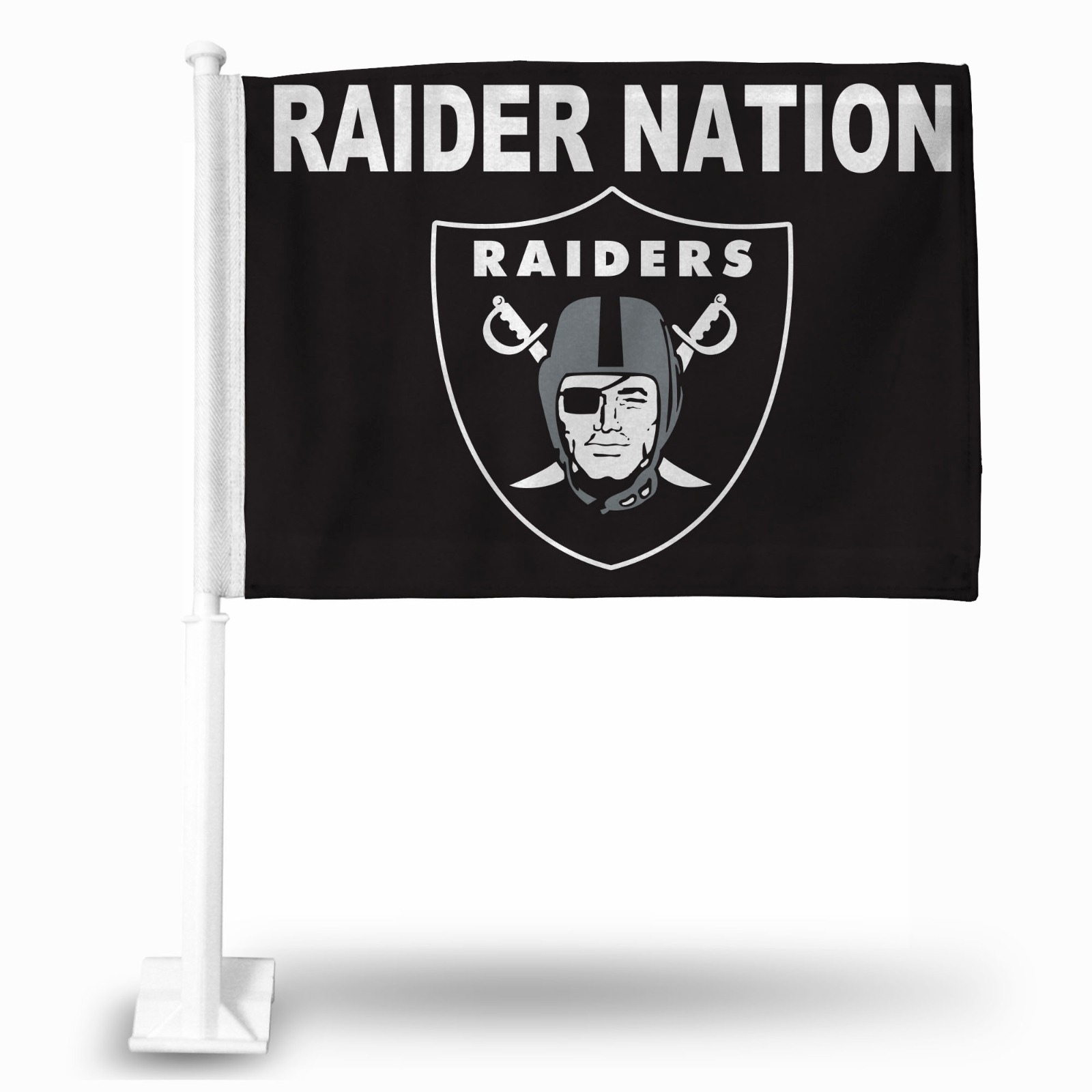 Las Vegas Raiders Raider Nation Premium 2 Sided Car Flag Auto Banner Oakland Ebay