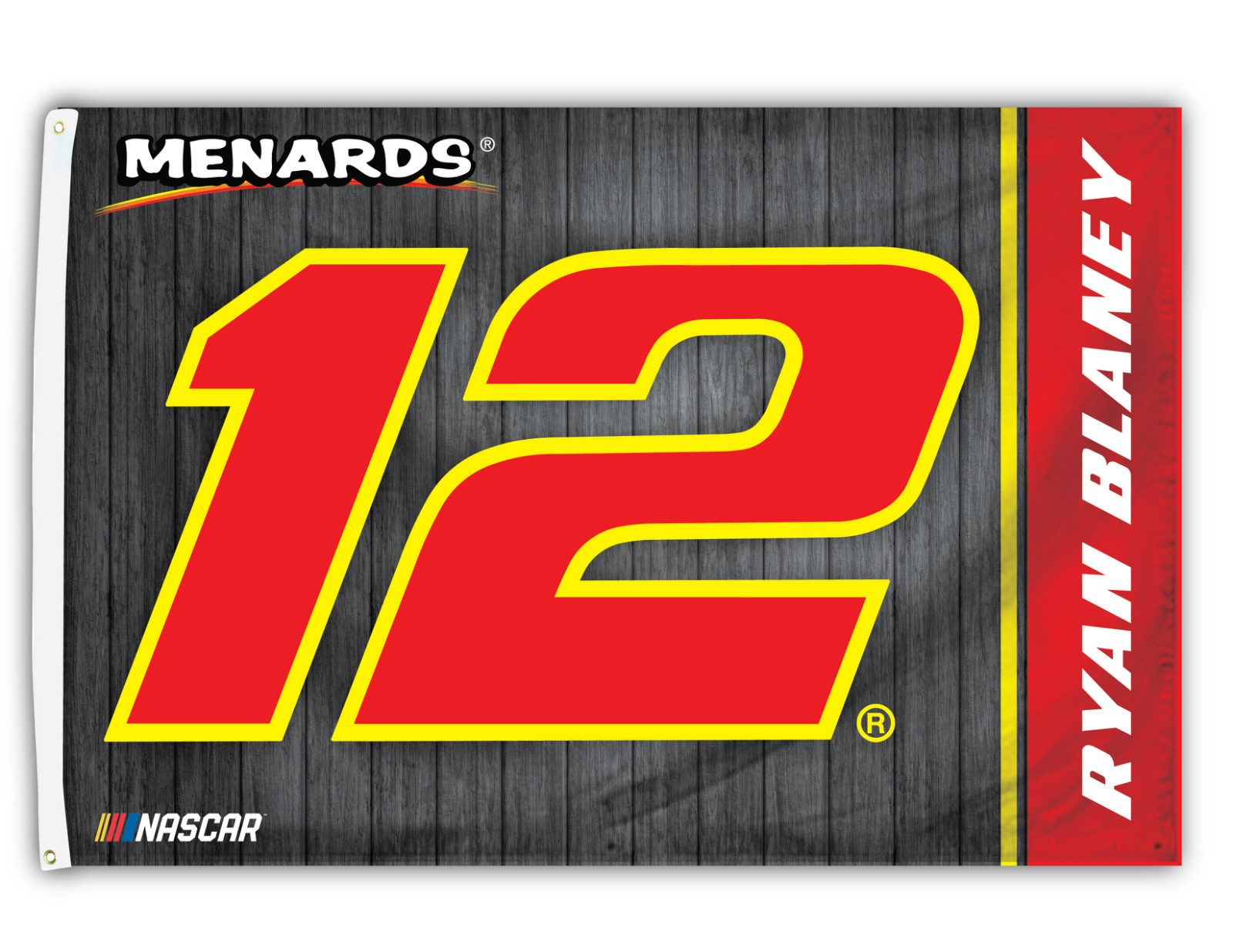 Ryan blaney 12 2018 number 3x5 flag w grommets outdoor banner nascar racing