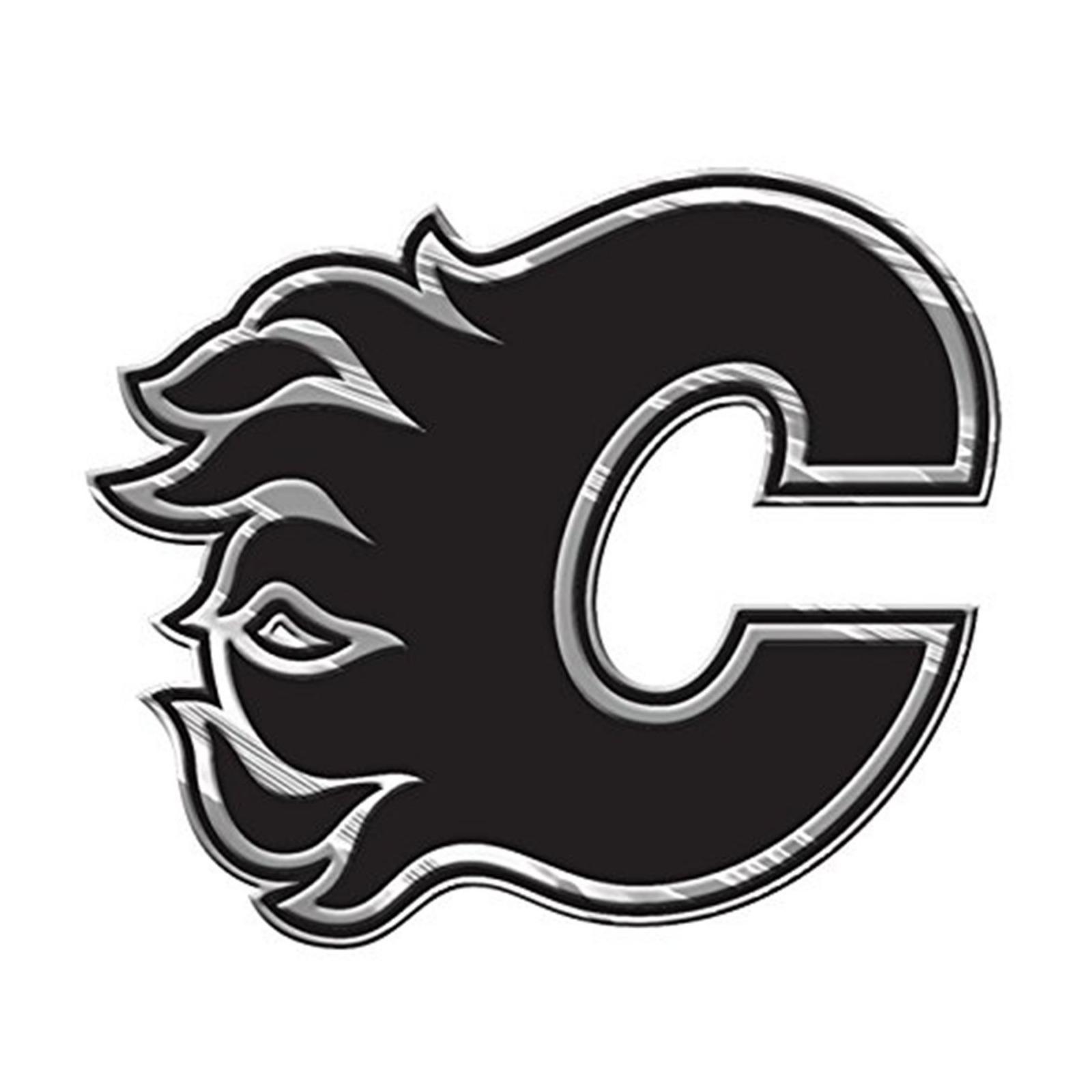 Calgary Flames Premium Solid Metal Chrome Auto Emblem Raised Decal Hockey Ebay
