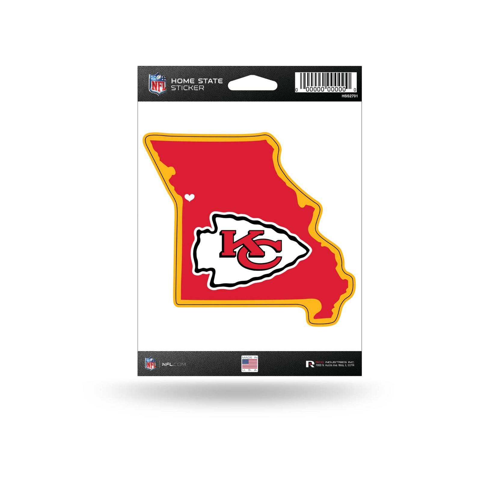 Chiefs Football Kansas City for Life Sport Decal 5 X 4
