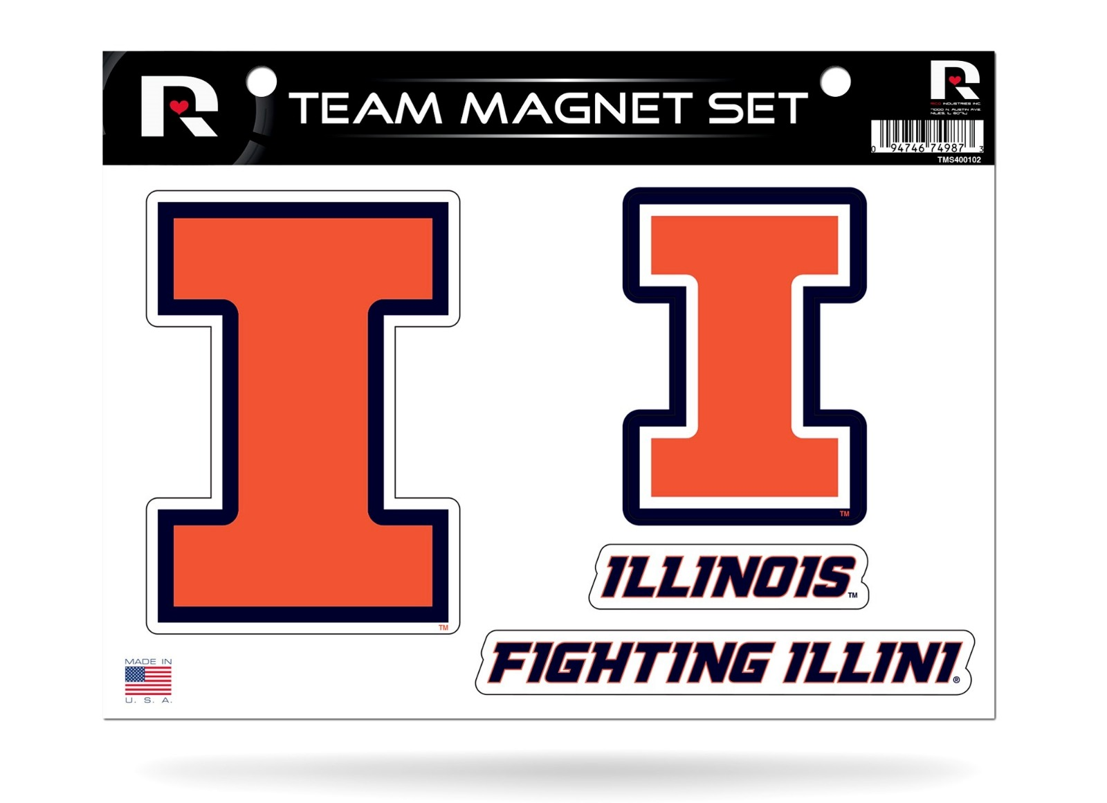 NEW Magnetz University of Illinois Fighting Illini Car Truck SUV Magnet
