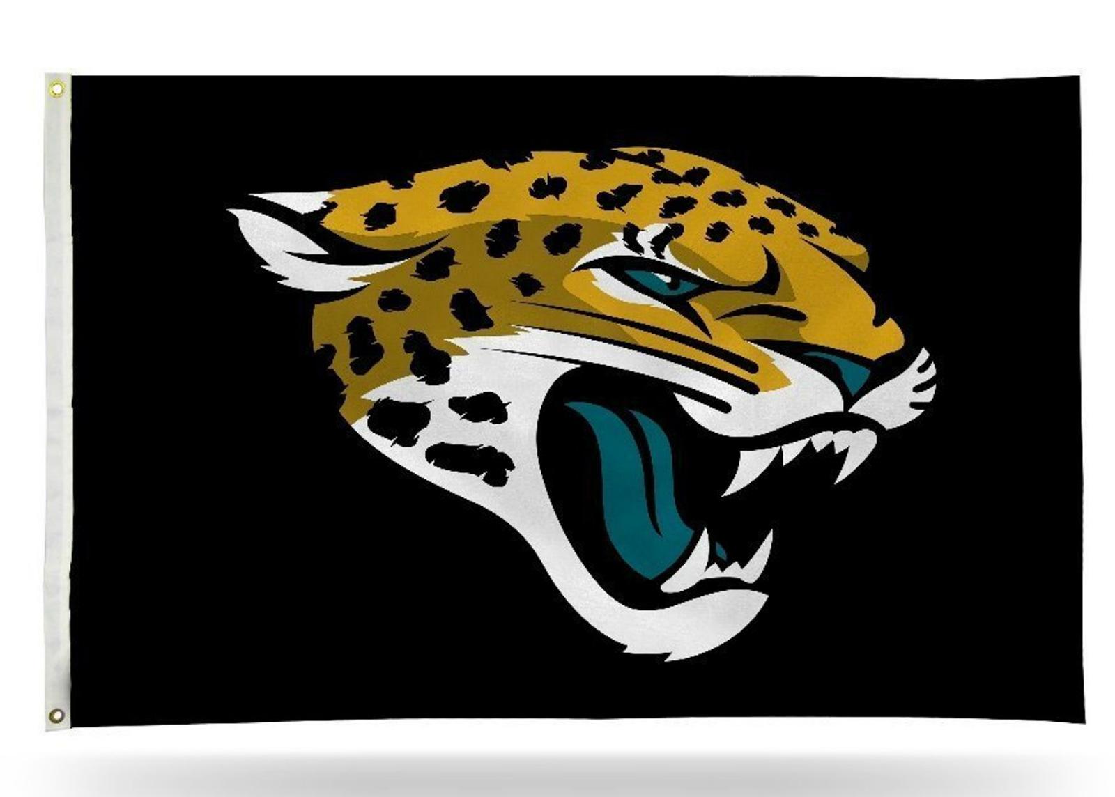 jacksonville jaguars logo only black rico 3x5 outdoor flag banner