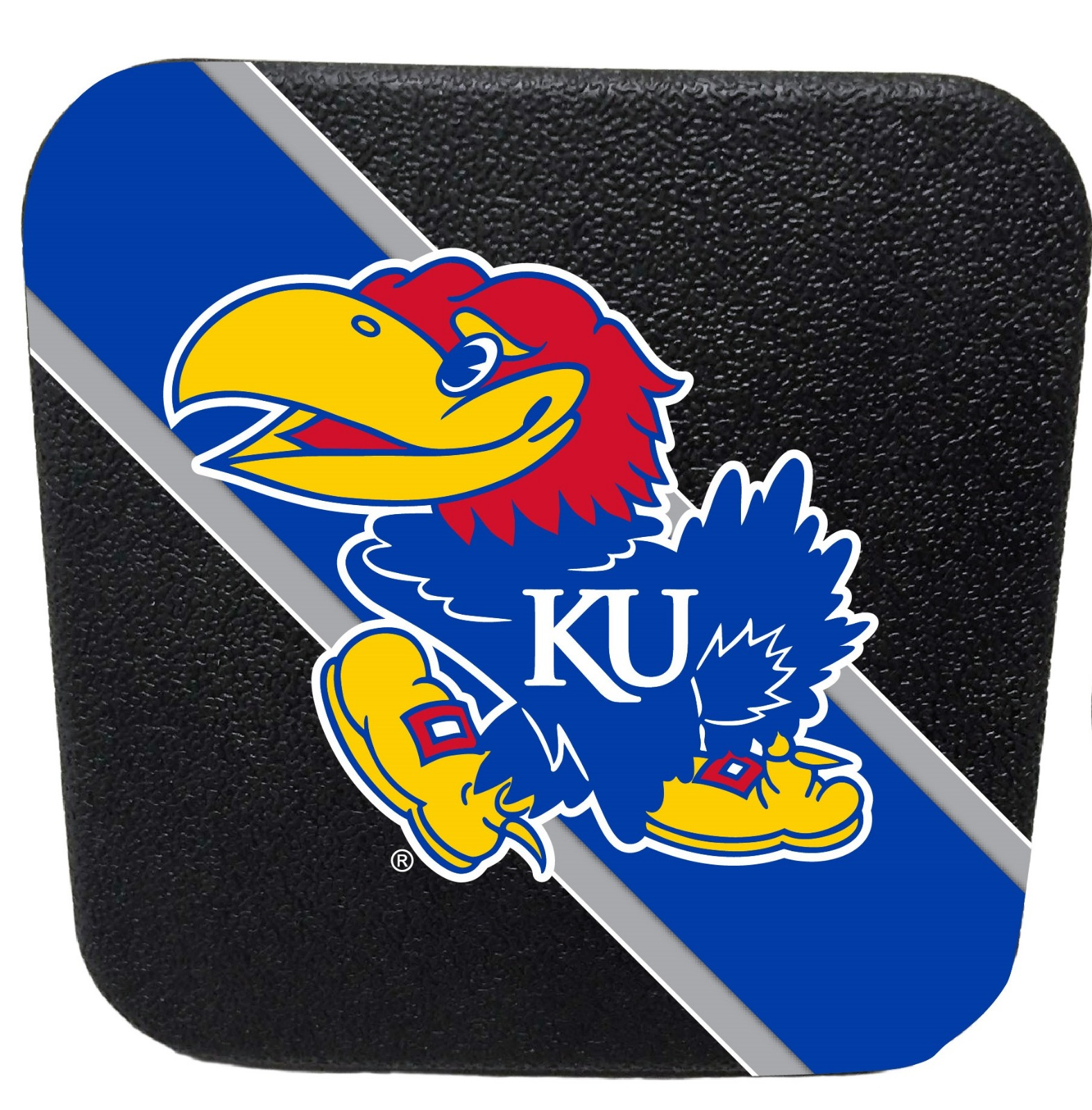 Kansas Jayhawks Rubber Trailer Hitch Cover