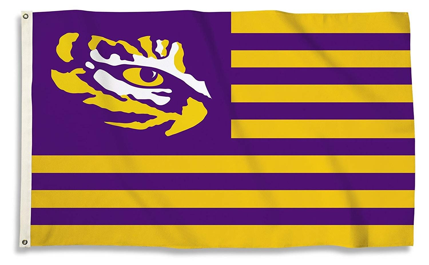 Details about LSU Tigers STRIPES Nation 3x5 Flag w/grommets Banner  Louisiana State University