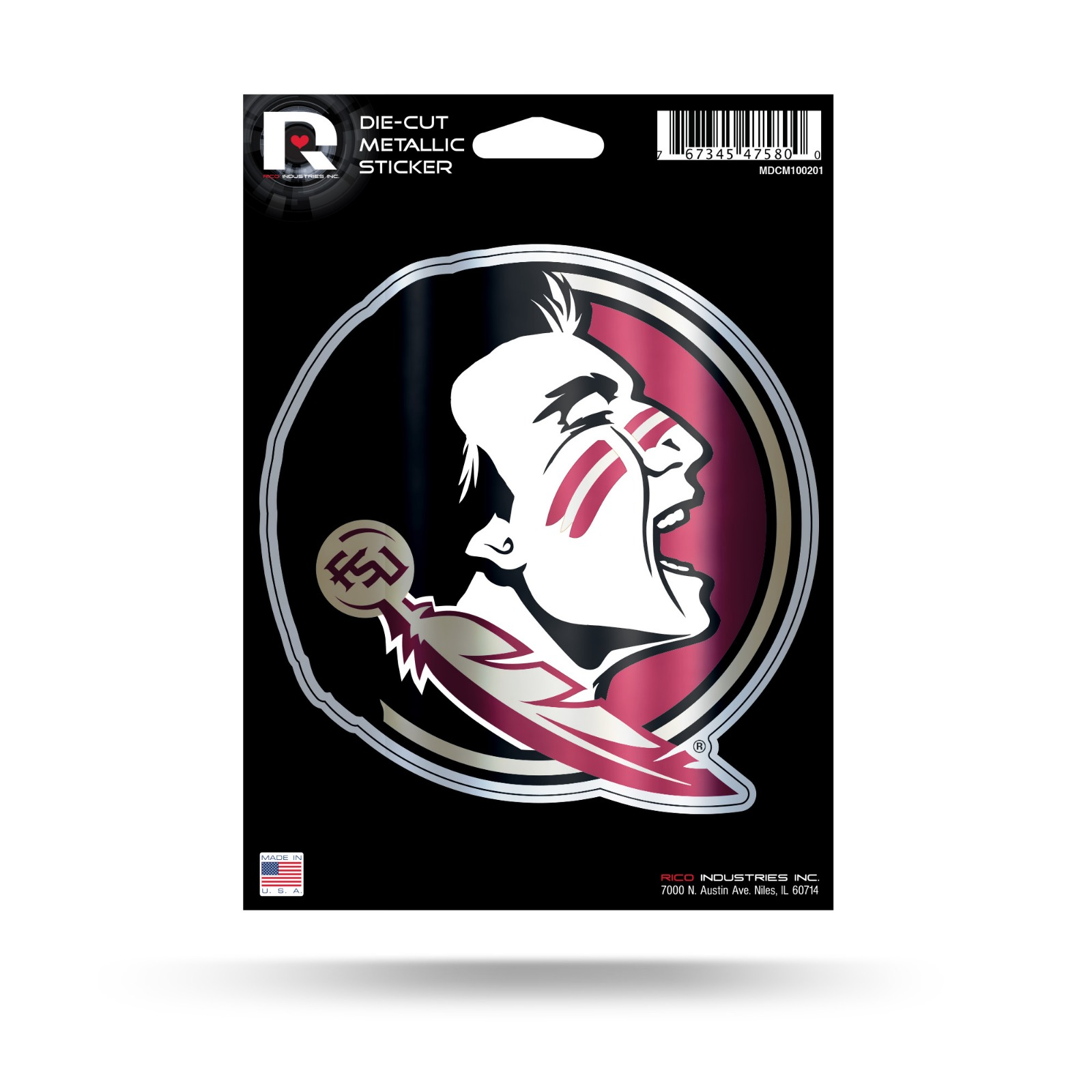 Car Sticker *Free Shipping Florida State Seminoles NCAA Color Die-Cut Decal