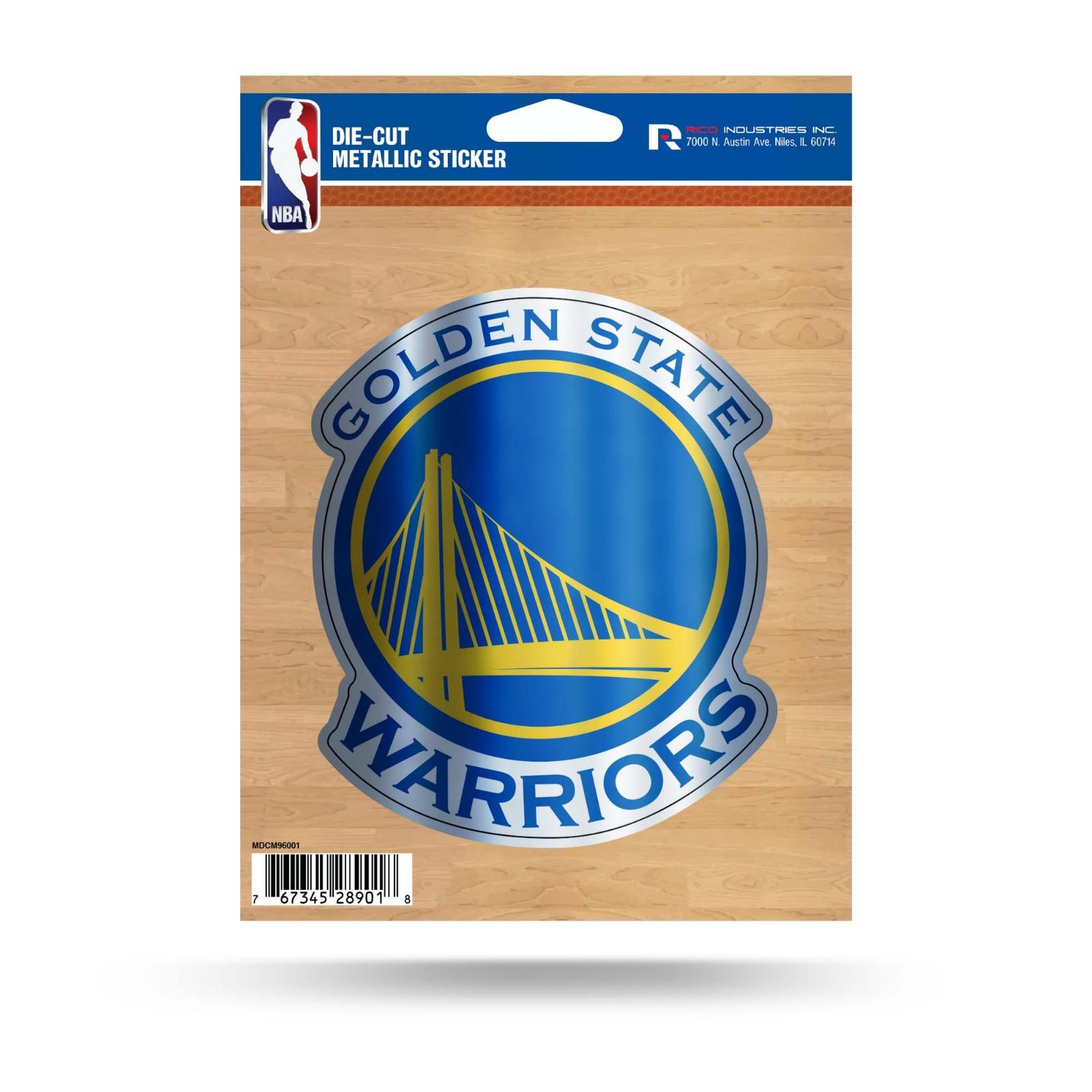 Golden state warriors 5 metallic decal die cut auto sticker emblem basketball
