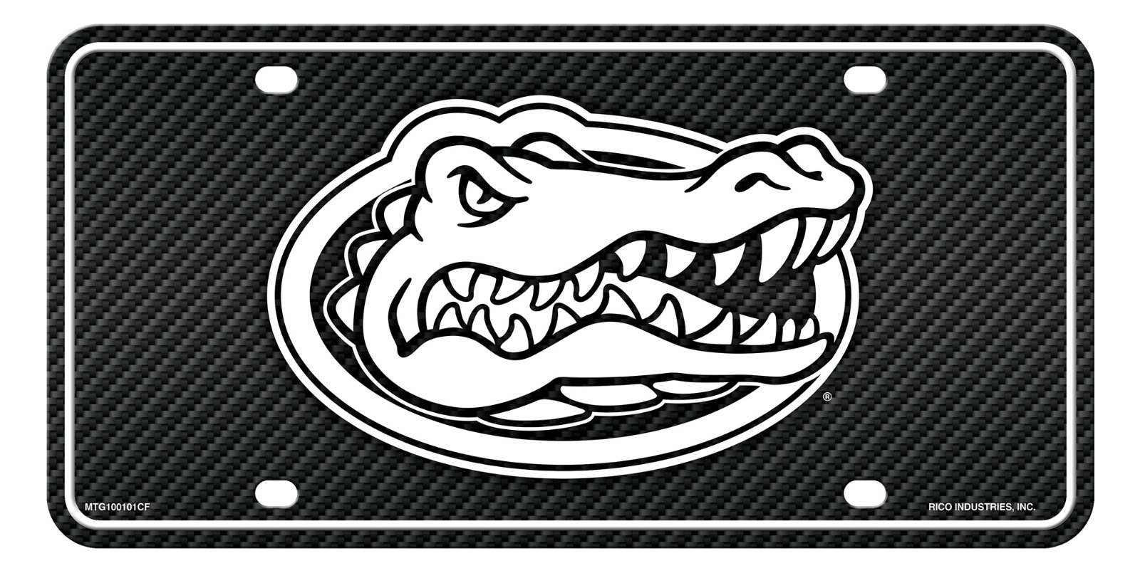 Inc Rico Industries Florida Gators Metal Tag License Plate Carbon Fiber Design Premium Aluminum Novelty University of