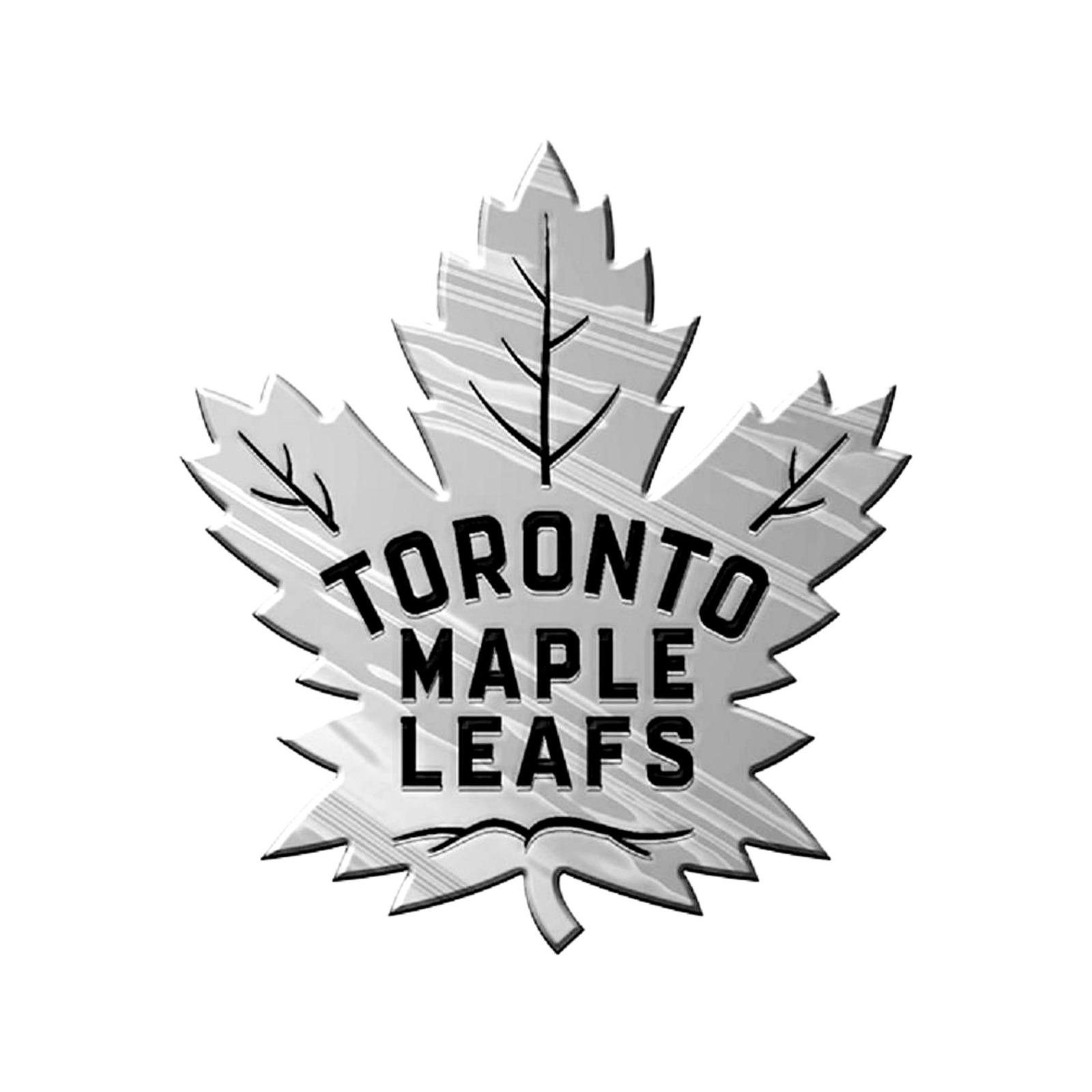 Toronto Maple Leafs Premium Solid Metal Chrome Auto Emblem Raised Decal Hockey