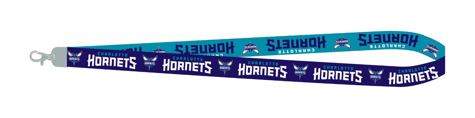 PSG INC Charlotte Hornets 2-Tone Premium Lanyard 2-Sided Breakaway Keychain Basketball