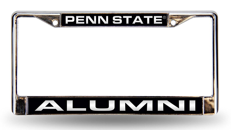 Penn State Nittany Lions Alumni Laser Frame Chrome License