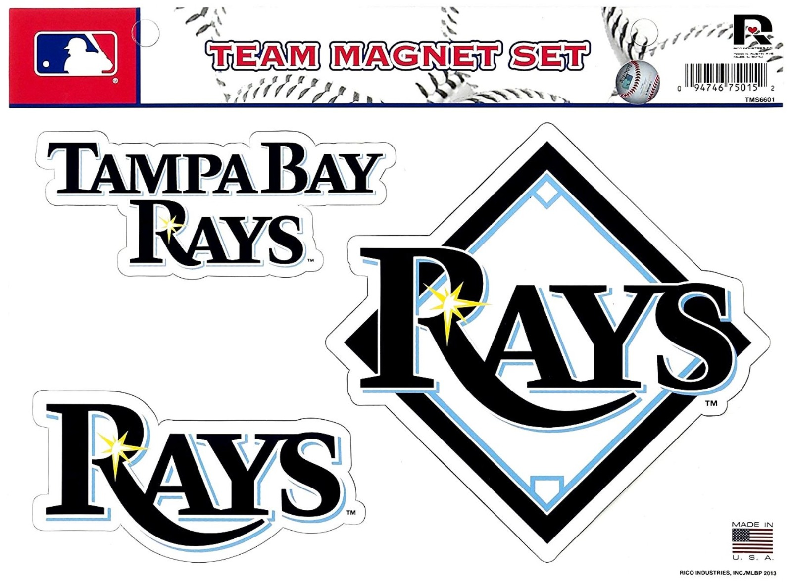 Tampa Bay Rays Premium Multi Die Cut Magnet Sheet Heavy Duty