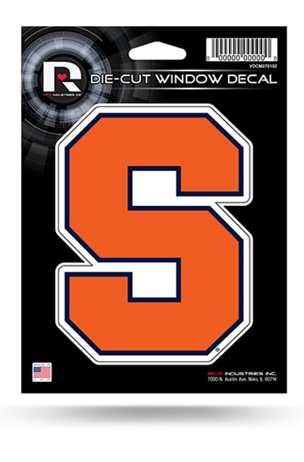 Syracuse orange 5 flat vinyl die cut decal bumper sticker emblem university