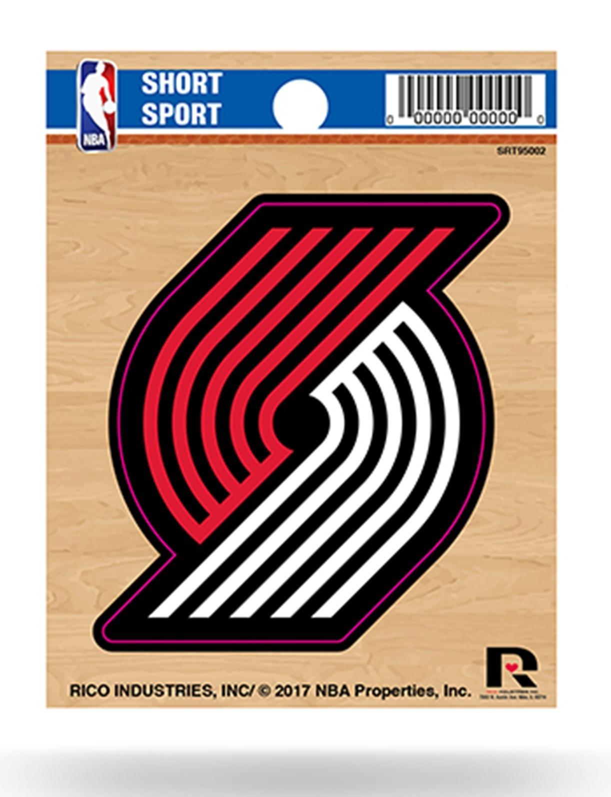 Set of 2 Pieces in 14 x 4 Portland City Blazer Basketball Sport Logo Die-Cut Sticker Decal