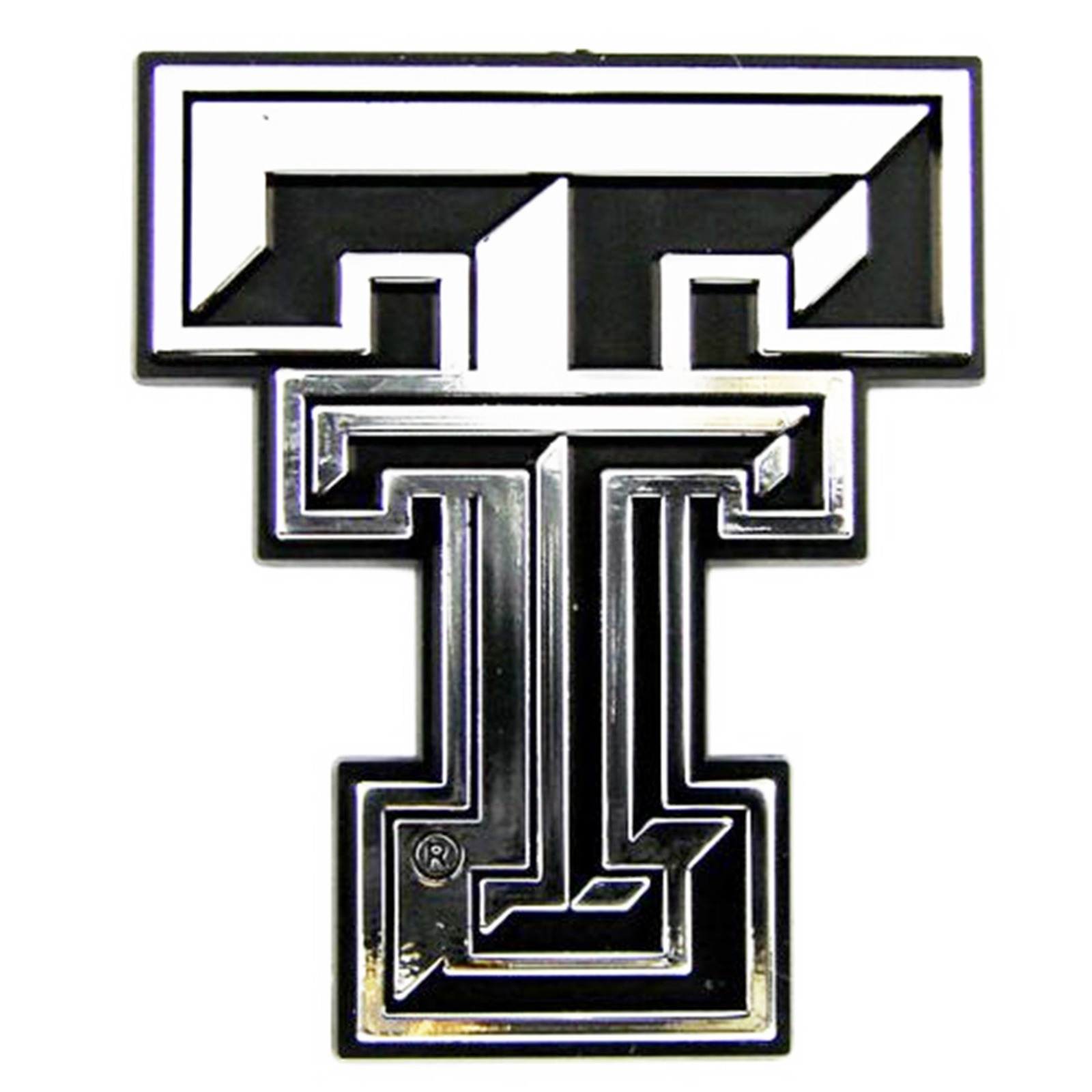 Texas Tech Red Raiders Ce Silver Chrome Colored Auto Emblem Decal