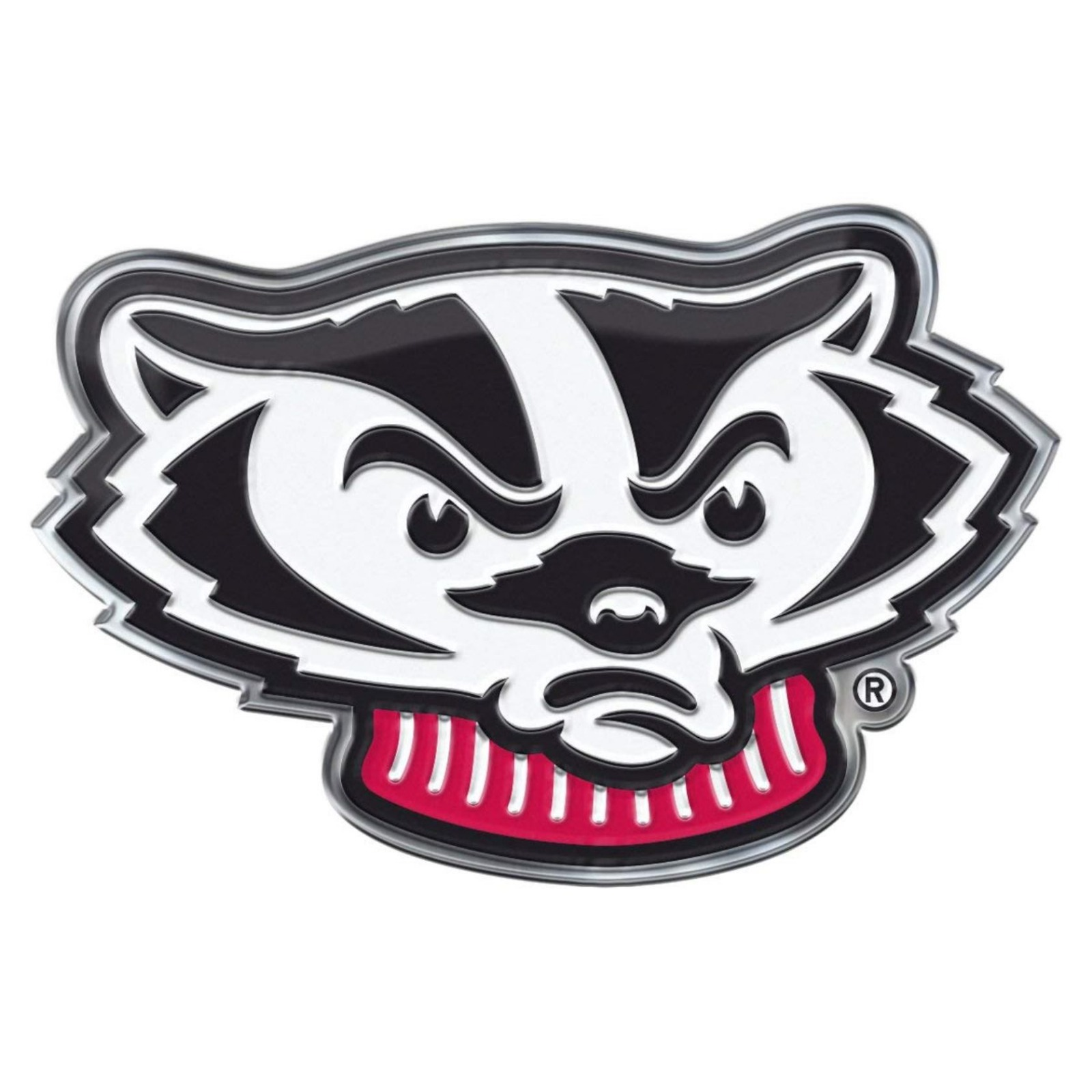 Wisconsin badgers ce4 alternative logo auto emblem chrome decal university of