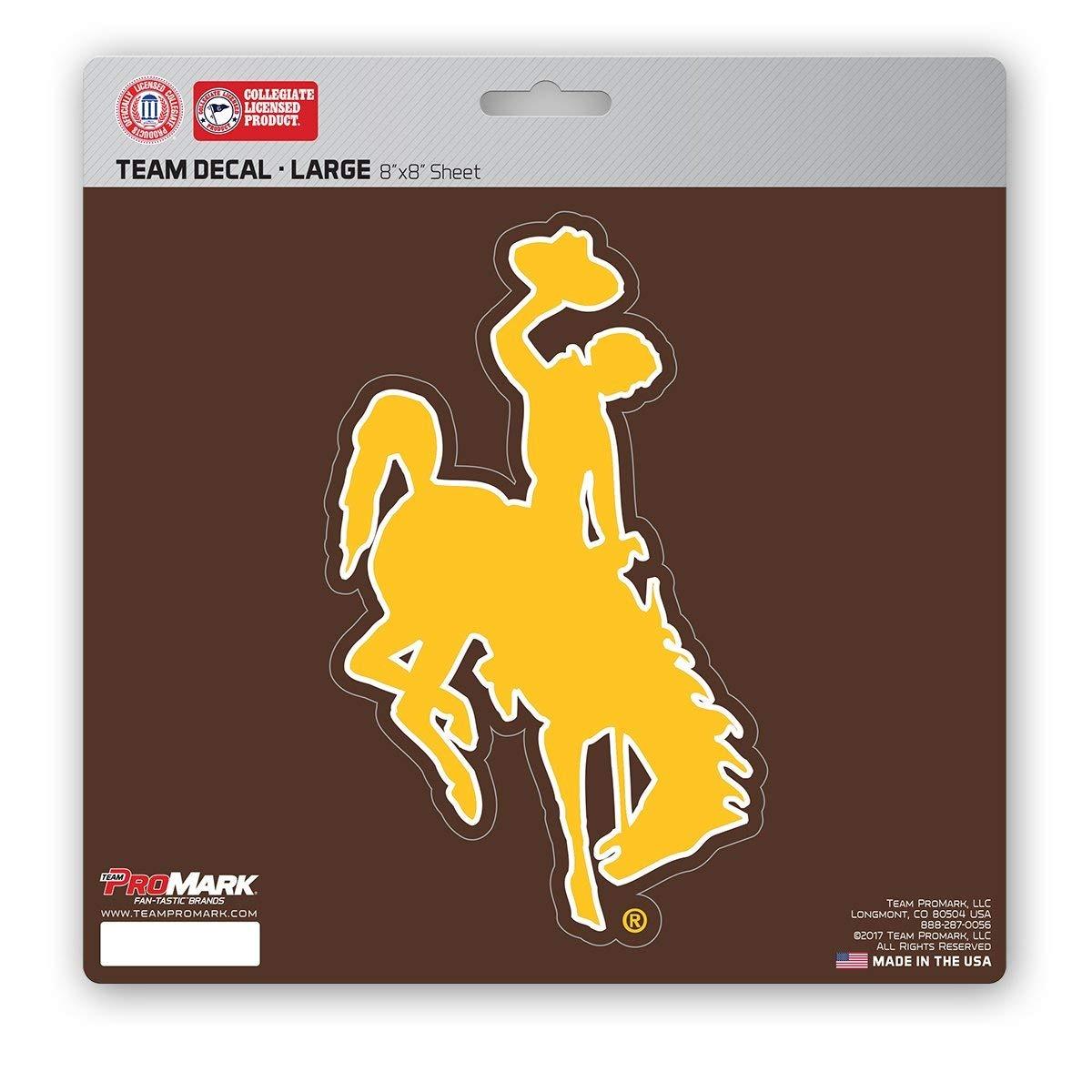 8x8 Team Color ProMark NCAA Wyoming Cowboys Unisex Wyoming Cowboys Decal Die Cutwyoming Cowboys Decal Die Cut