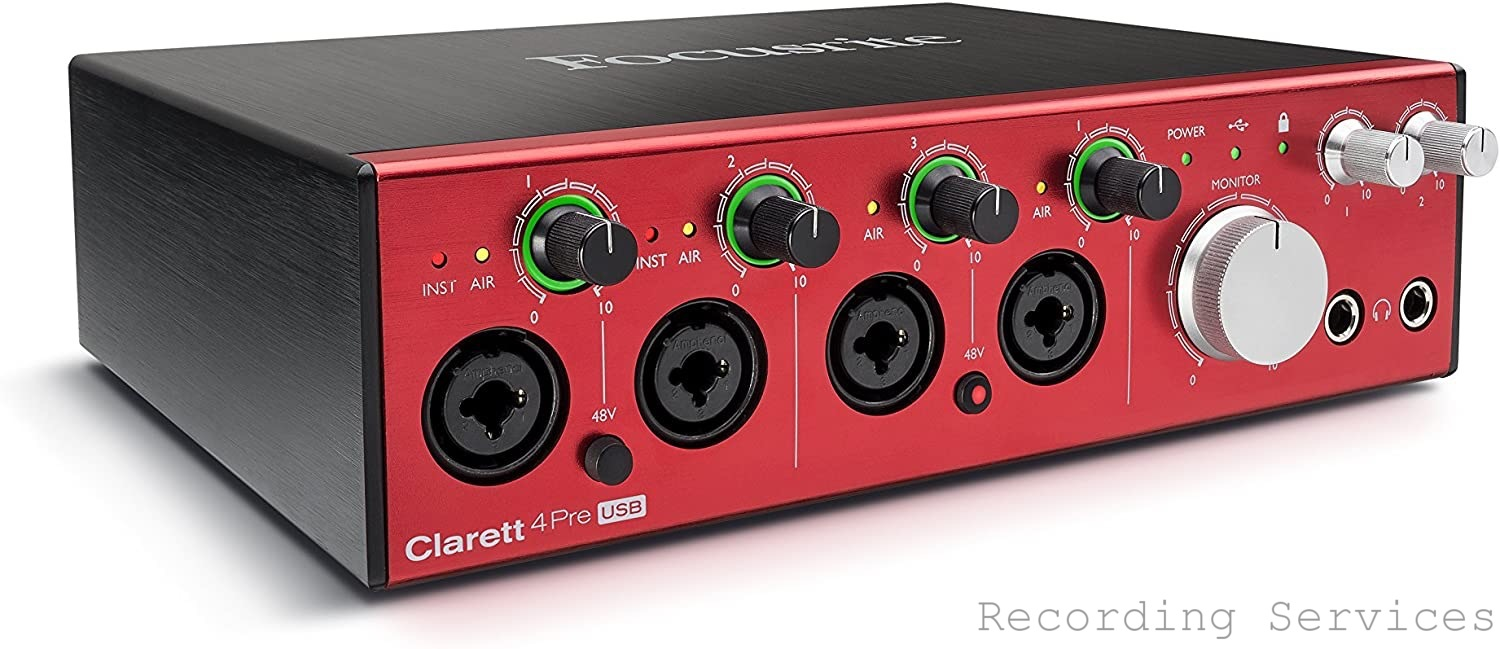 Focusrite Clarett 4Pre USB 18-In/8-Out Audio Inter