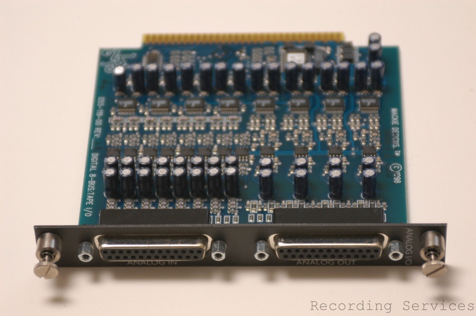 MACKIE AIO-8 ANALOG INTERFACE CARD FOR HDR MDR REC