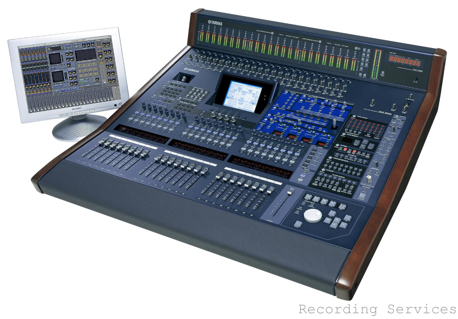 yamaha dm2000 v2 digital mixing console mixer with mb2000 meter bridge case ebay