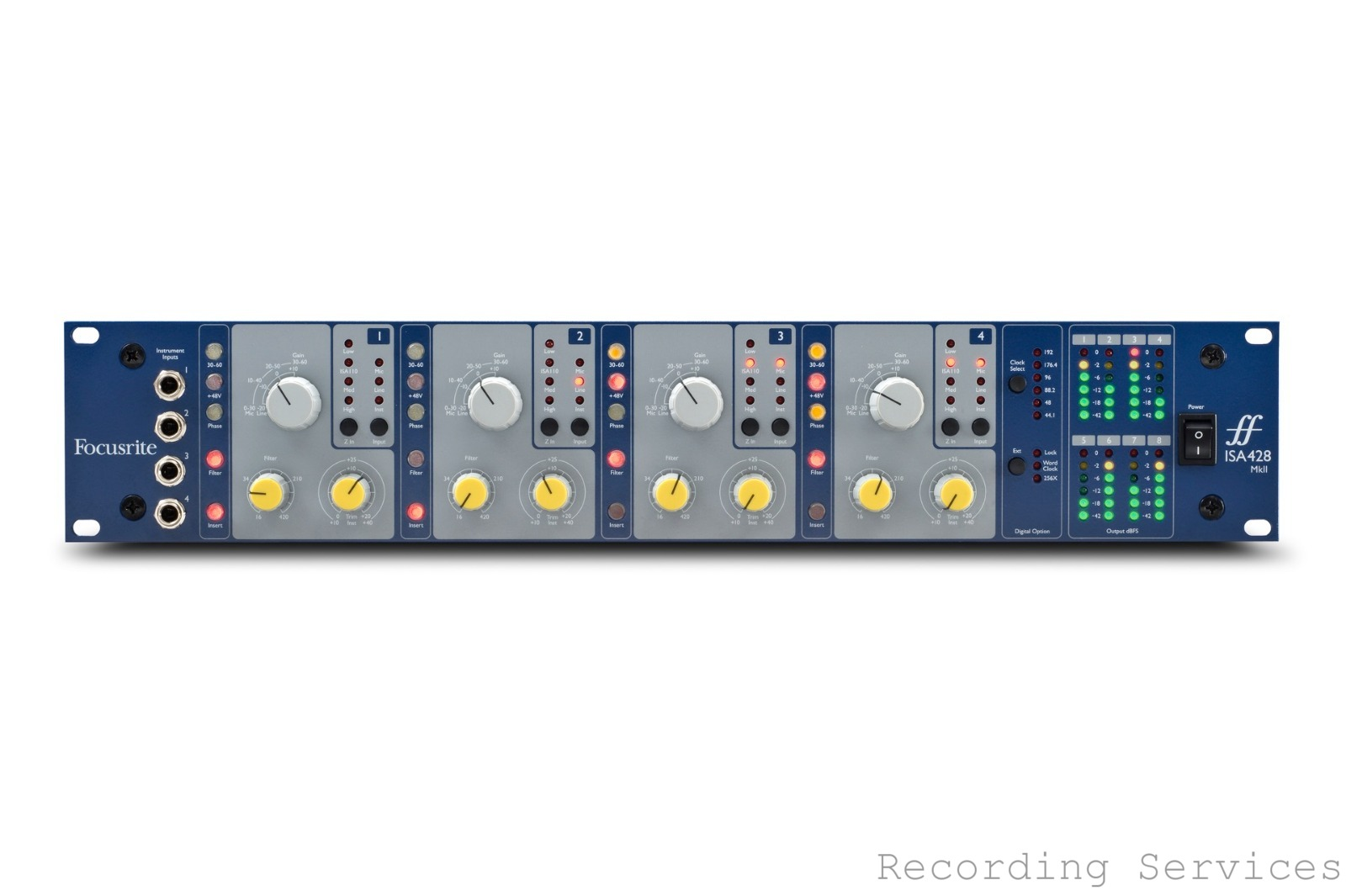 Focusrite ISA 428 MkII 4 Channel Mic Preamp based