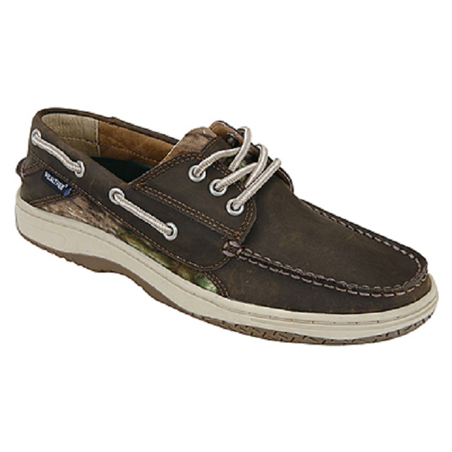 realtree camo mens brown camouflage boat deck shoe