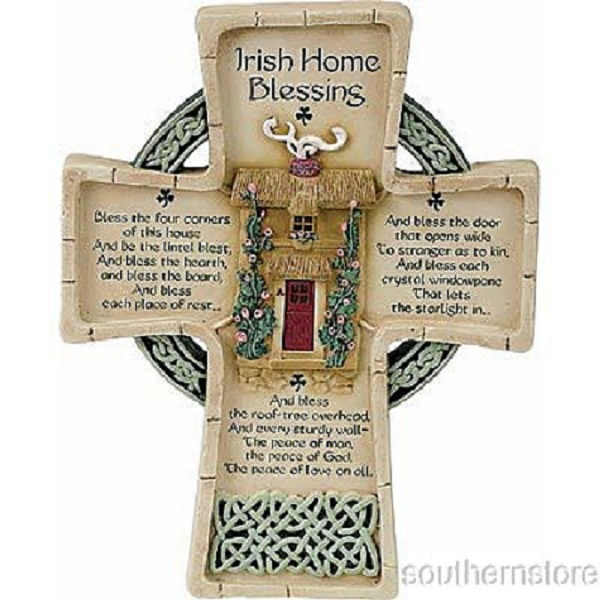 Decorative Wall Cross 8 5 Irish Home Blessing House Prayer Decor Ebay