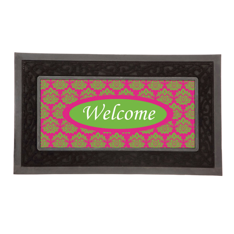 Doormat Insert Poly Burlap For Sassafras Tray Quot Welcome