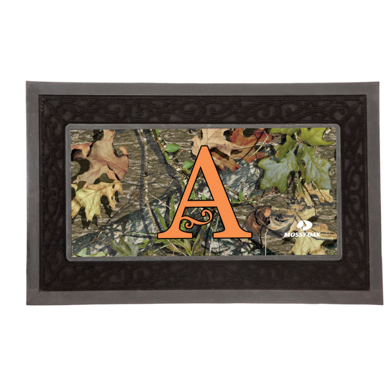 Doormat Monogram 16 Initials Mossy Oak CAMO Outdoors RUG