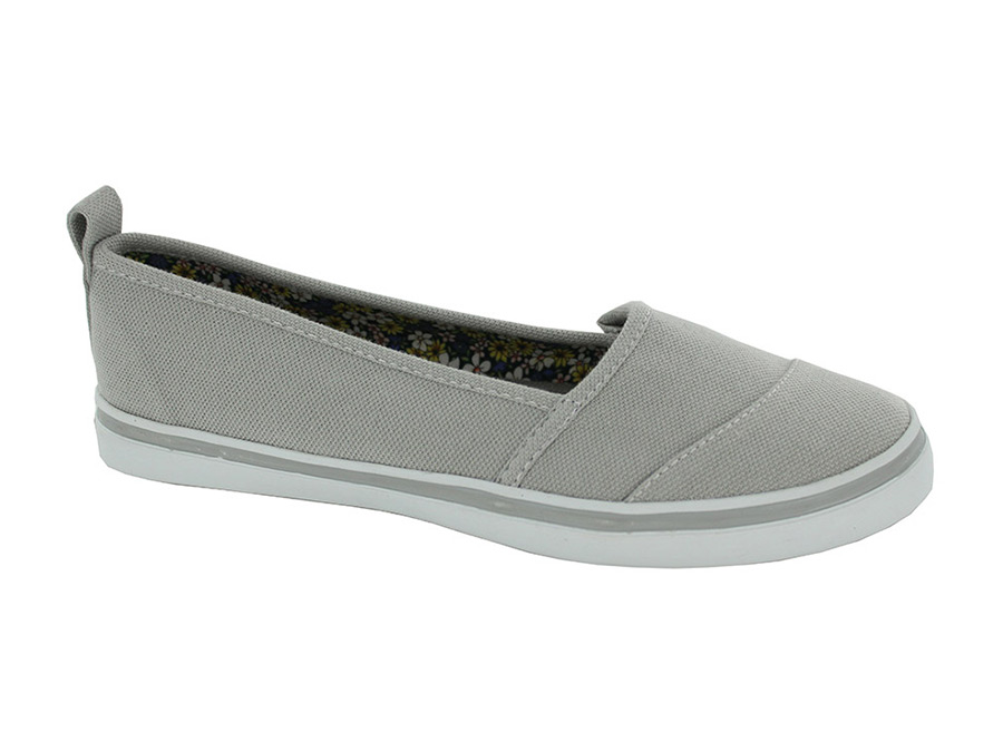 daniel green womens wide gray canvas casual shoes